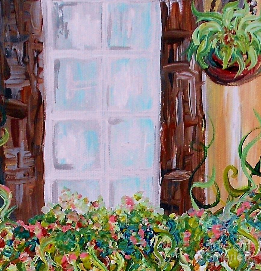 Flower Painting - A Window View by Eloise Schneider