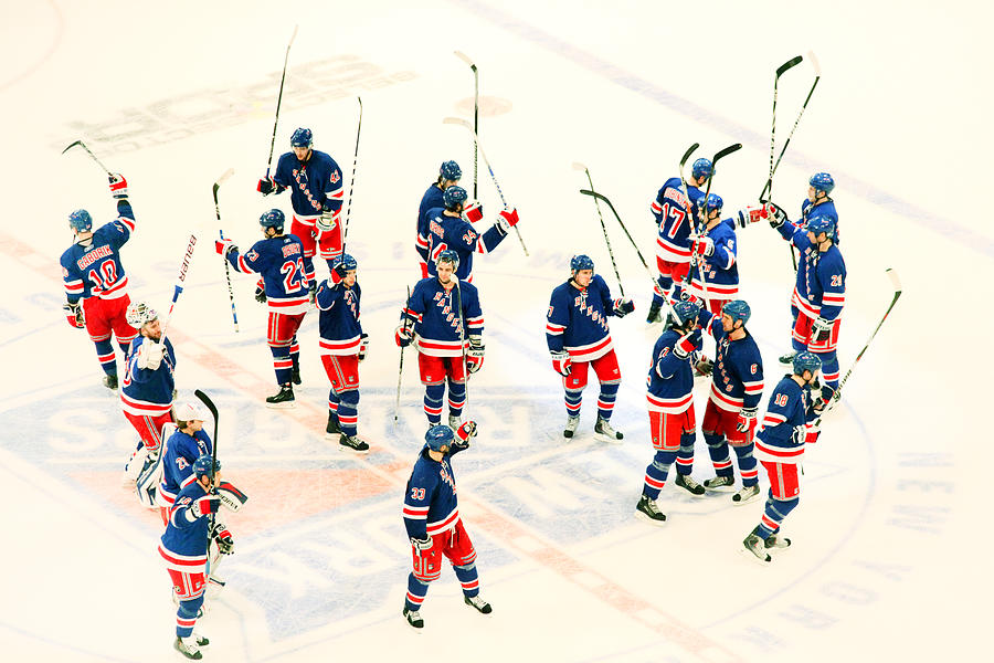 Hockey Photograph - A Winning Salute by Karol Livote