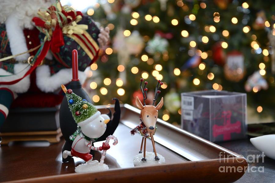 Christmas Photograph - A Winter Bokeh by David Bearden