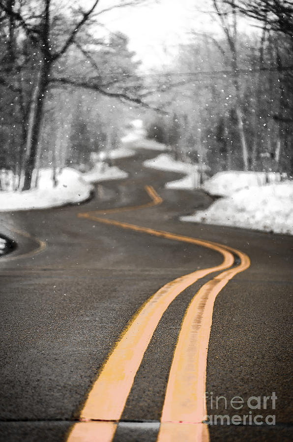 Winding Road Photograph - A Winter Drive Over A Winding Road by Ever-Curious Photography