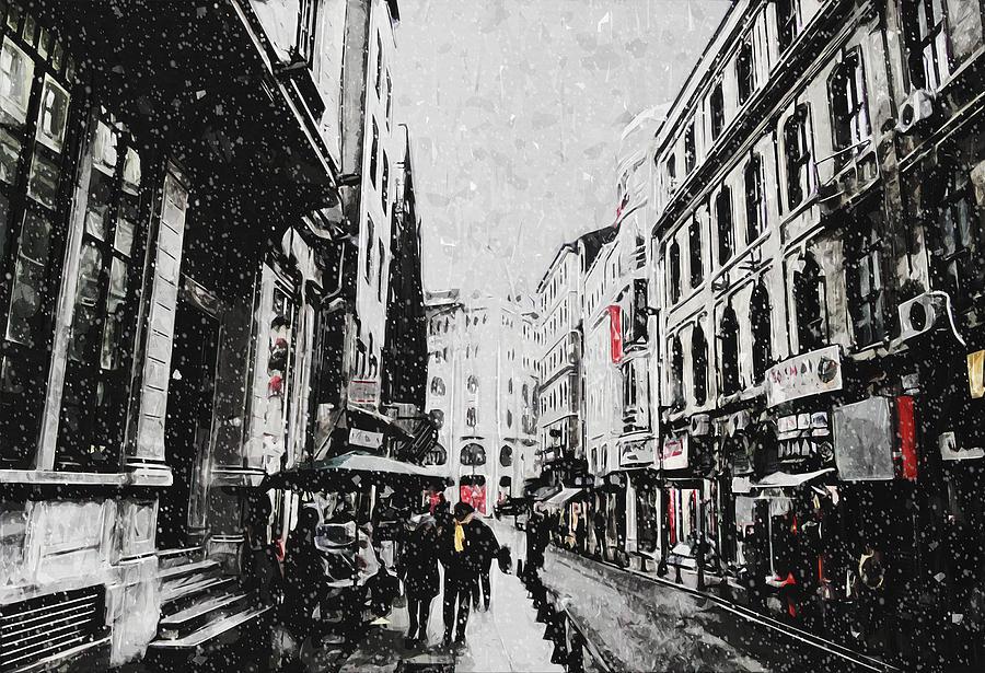 Winter Snow Scene Painting - A Winter Scene by Zapista Zapista