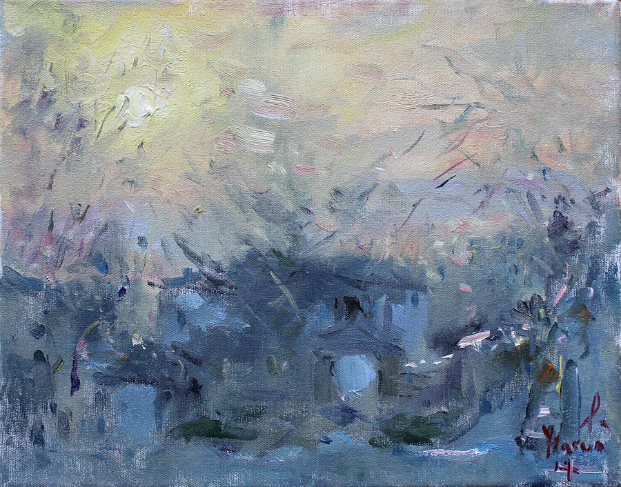 Winter Painting - A Winter Sunrise by Ylli Haruni