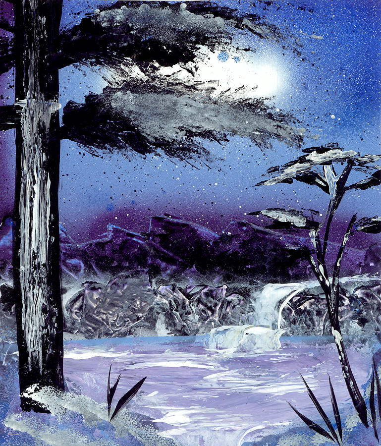 Landscape Painting - A Winters Valley by Marc Chambers