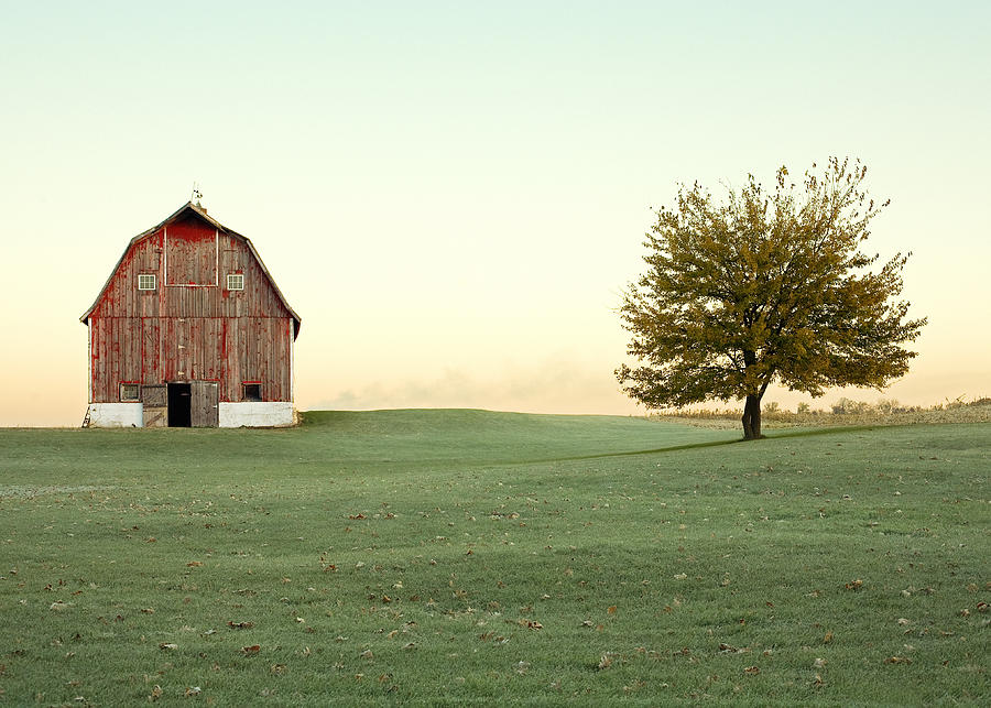 Barn Photograph - A Wisconsin Postcard by Todd Klassy