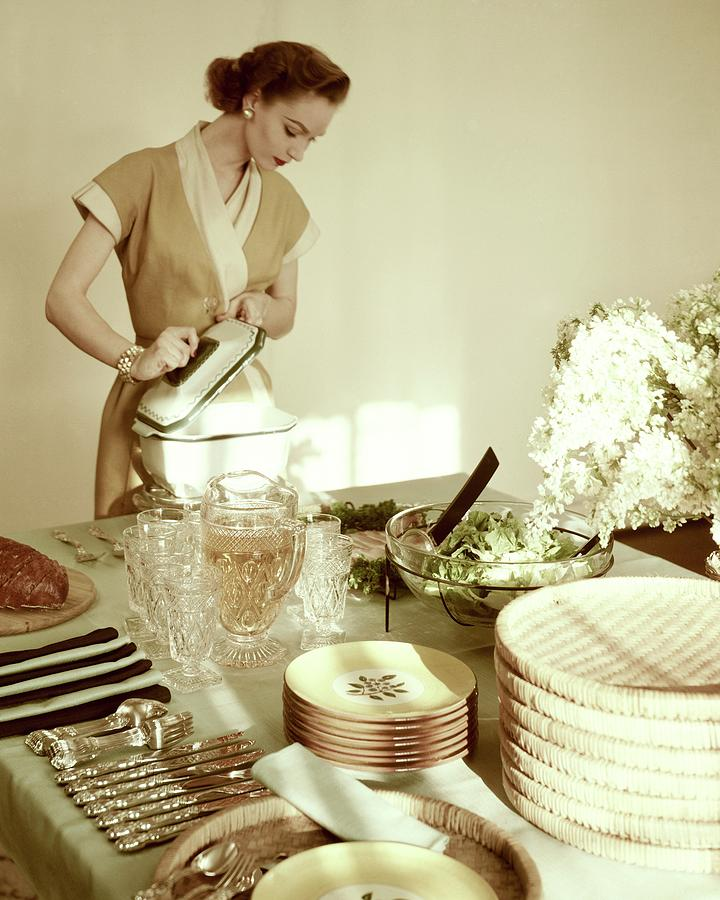 A Woman At A Dining Table Photograph by Haanel Cassidy