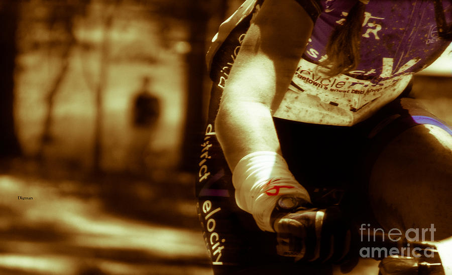 Bicycle Photograph - A Woman At Arms Length  by Steven Digman