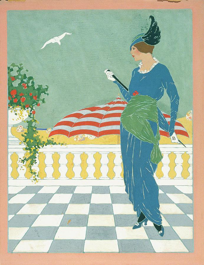 A Woman On A Terrace Digital Art by Will Hammell