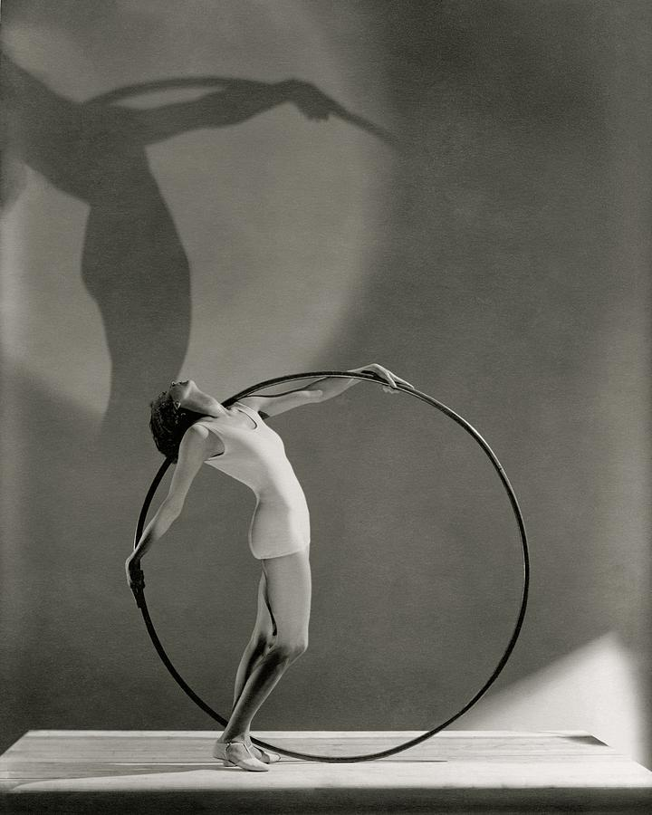A Woman Posing With A Hula Hoop Photograph by George Hoyningen-Huene