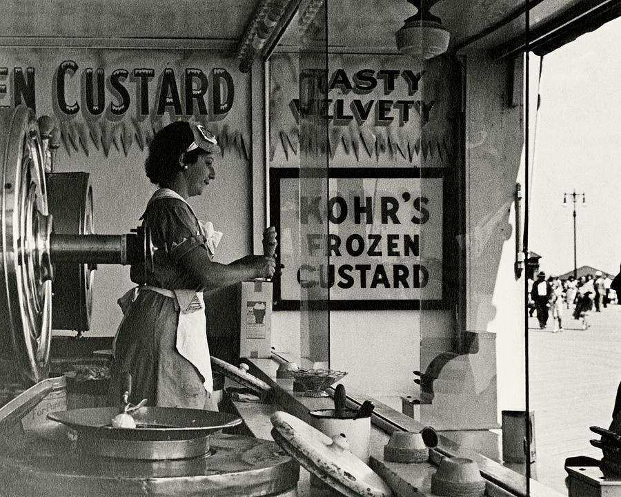 A Woman Selling Custard Photograph by Lusha Nelson