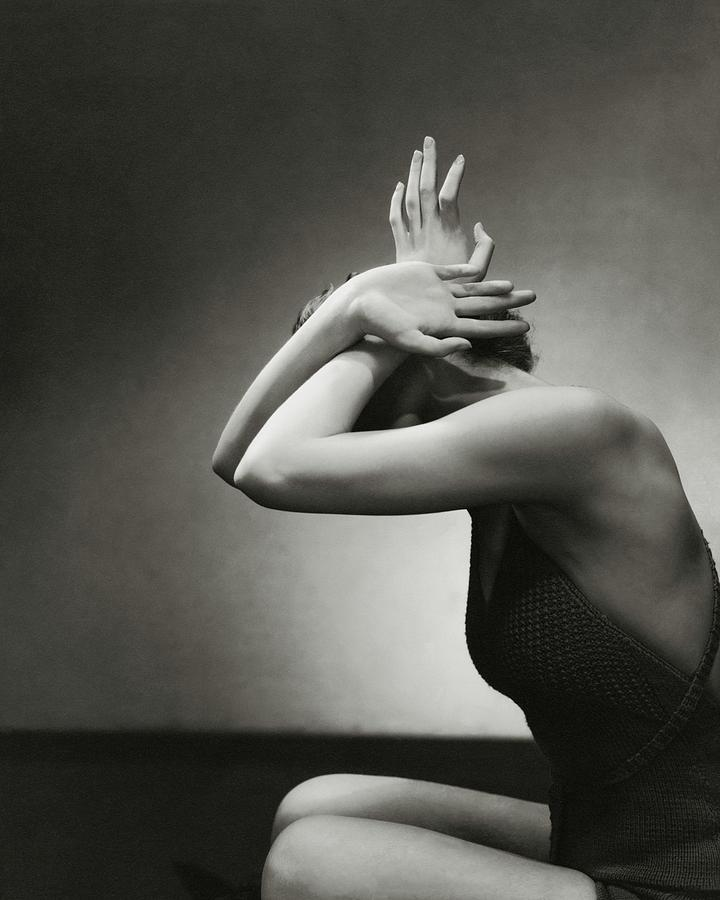 A Woman Shielding Her Head Photograph by Edward Steichen