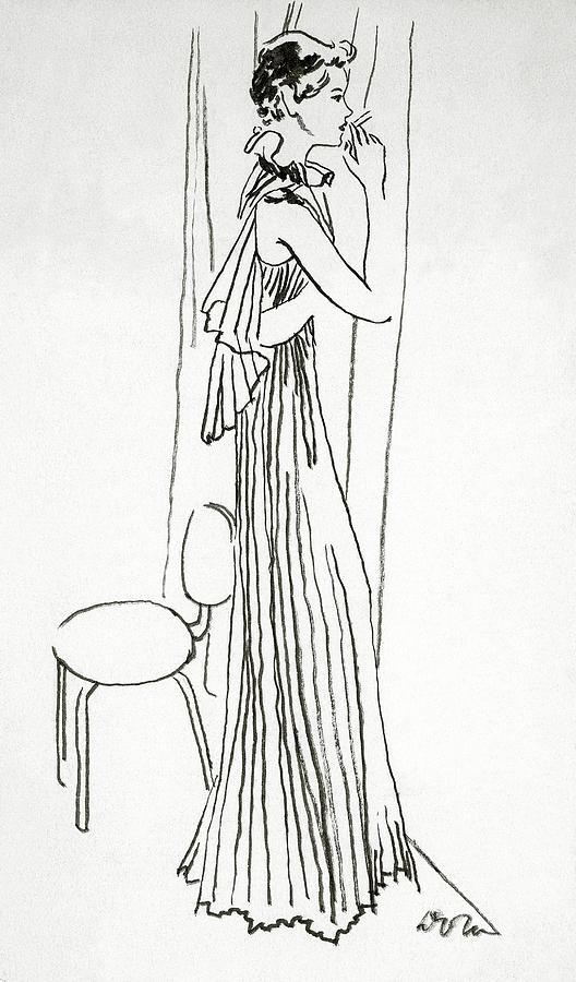 A Woman Smoking Digital Art by Abrams