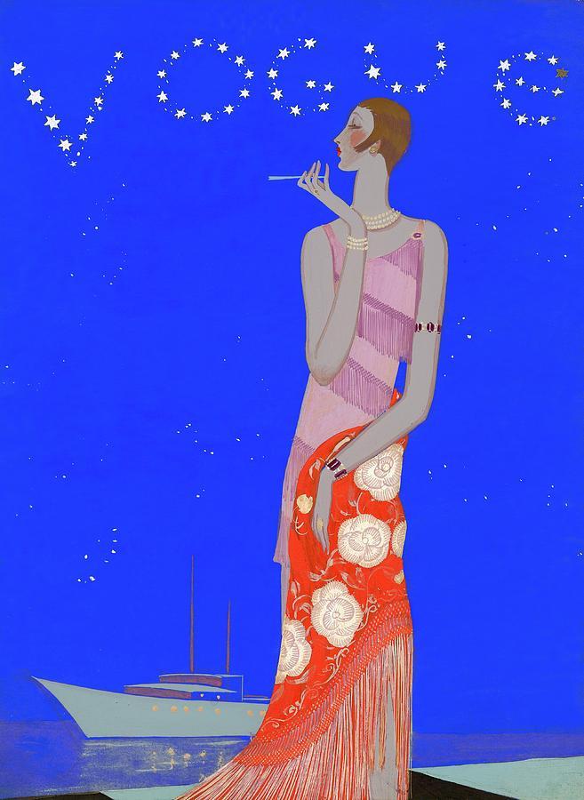 A Woman Wearing A Flapper Dress Digital Art by Eduardo Garcia Benito