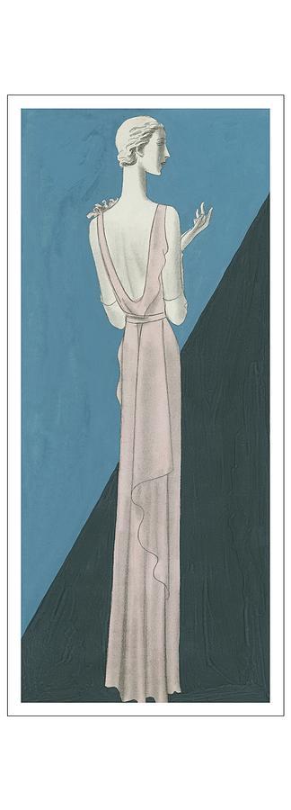 A Woman Wearing A Gown By Mainbocher Digital Art by Eduardo Garcia Benito