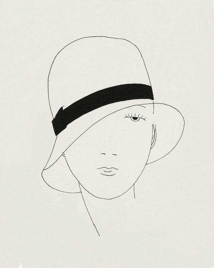 A Woman Wearing A Hat Digital Art by Jean Pages