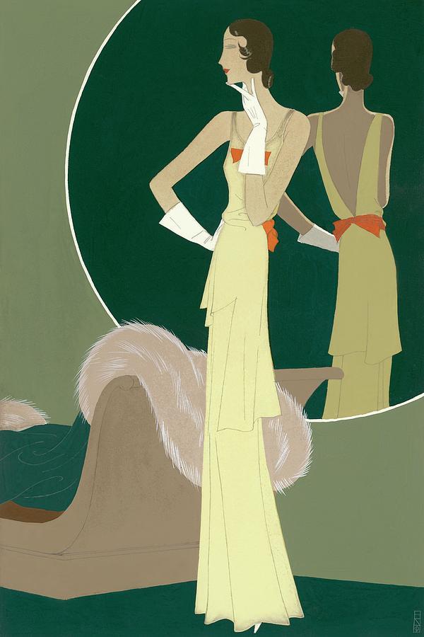 A Woman Wearing A Mainbocher Dress Digital Art by Eduardo Garcia Benito