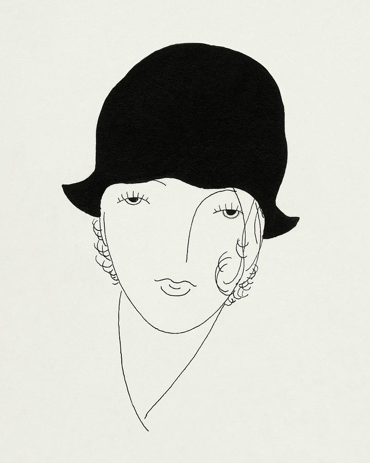A Woman Wearing A Poorly Fitted Hat Digital Art by Jean Pages