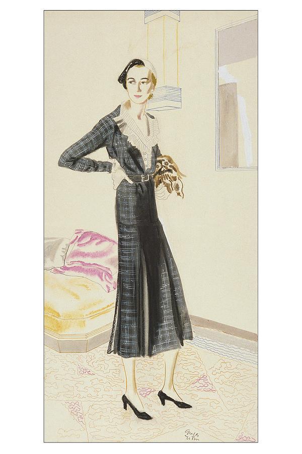 A Woman Wearing A Saks-fifth Avenue Suit Digital Art by R.S. Grafstrom