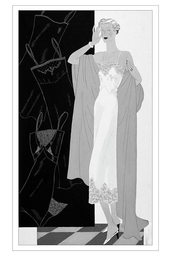 A Woman Wearing A Slip Digital Art by Eduardo Garcia Benito