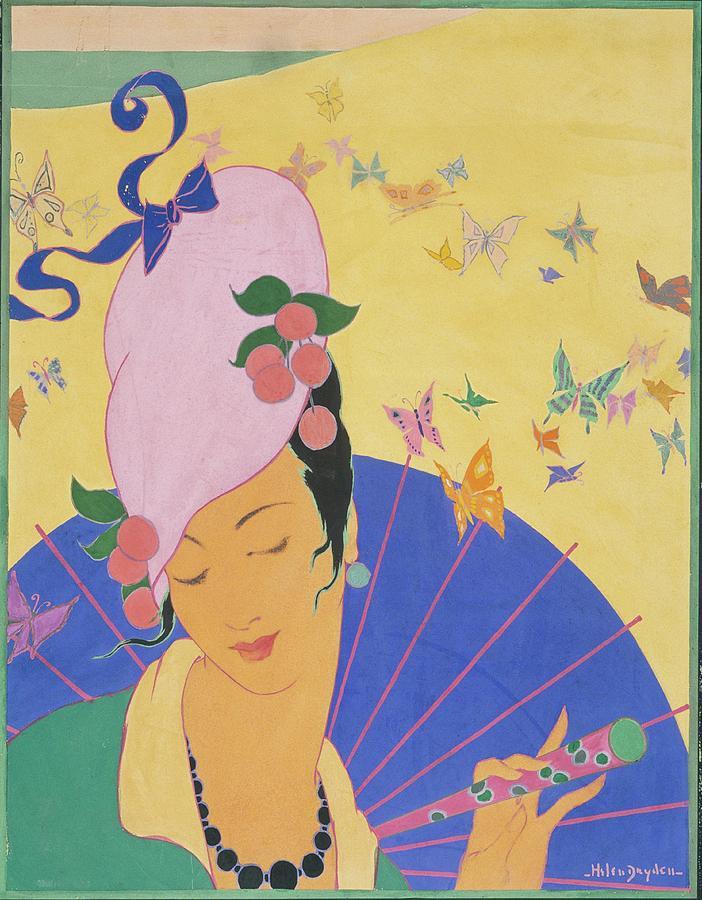 A Woman Wearing A Turban Digital Art by Helen Dryden