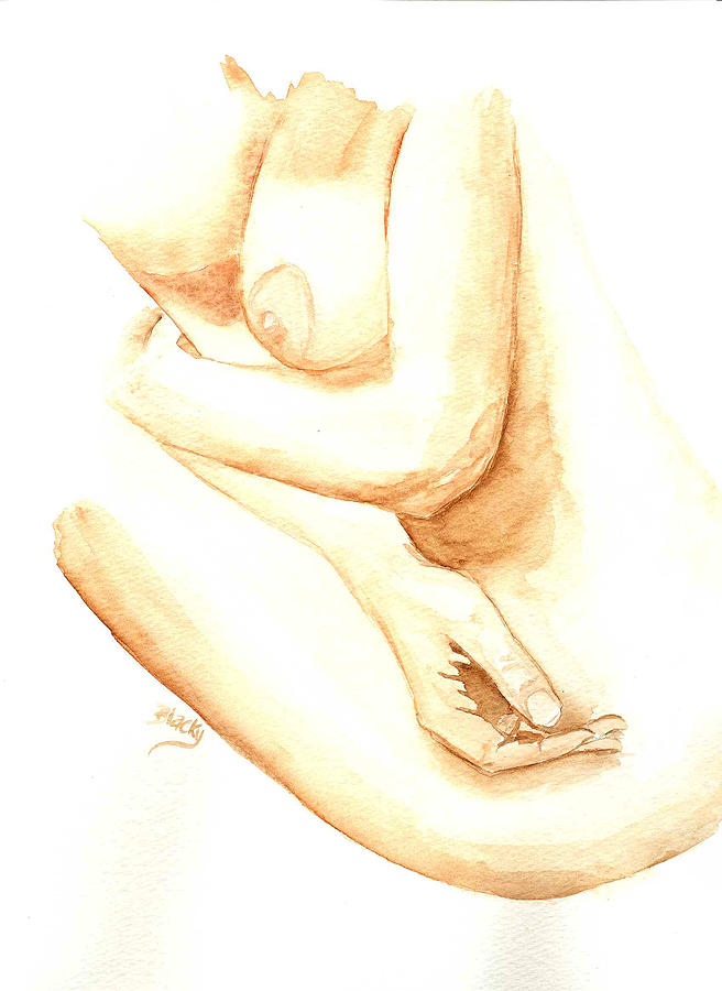 Woman Painting - A Womans Touch by Donna Blackhall