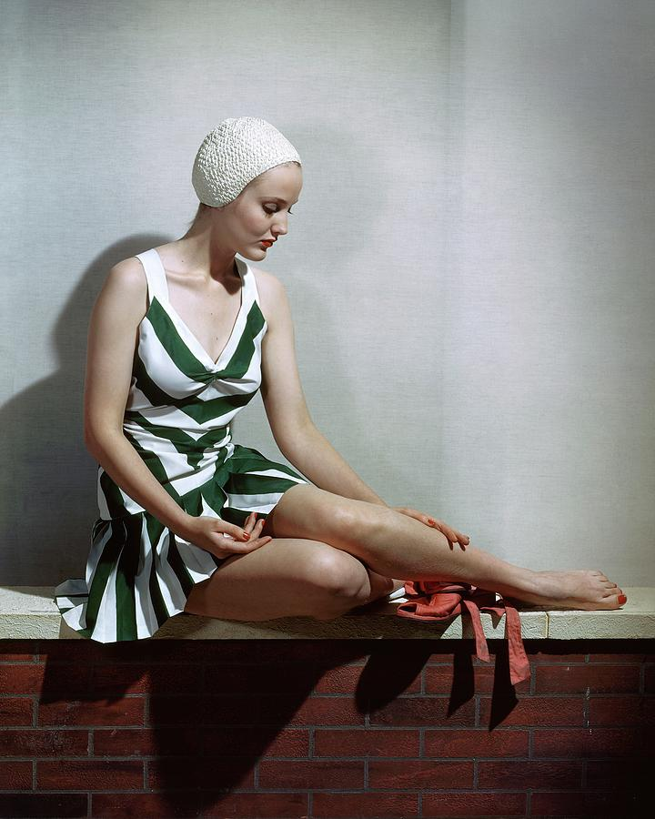 A Women In A Bathing Suit Photograph by Horst P. Horst