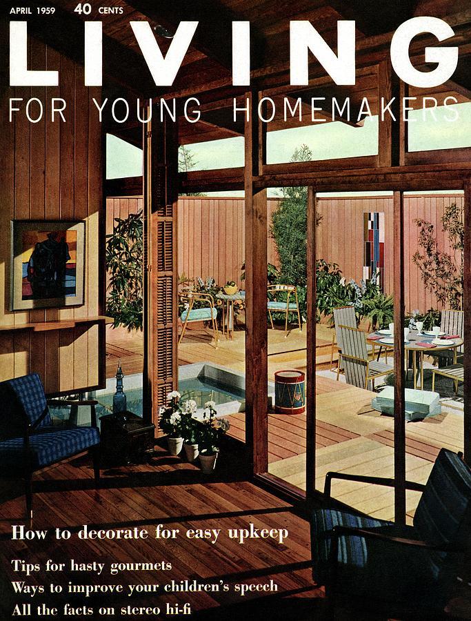 A Wood Paneled Living Room Digital Art by Ernest Silva