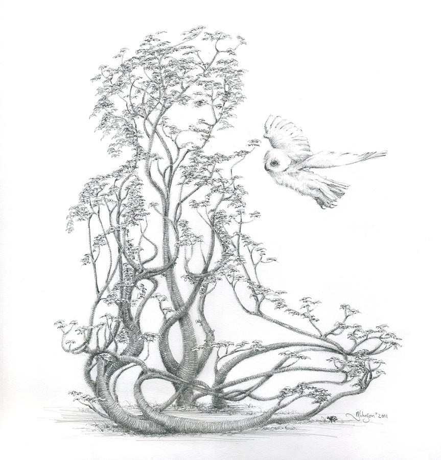 Tree Dancer Drawing - A Word To The Wise by Mark Johnson
