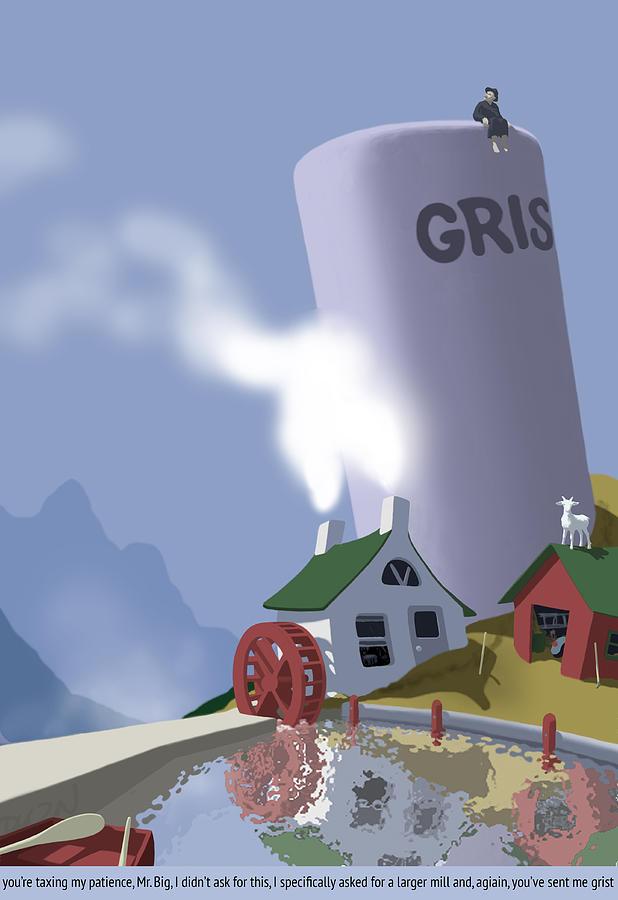 Grist Digital Art - a word with Mr. Big by Tom Dickson