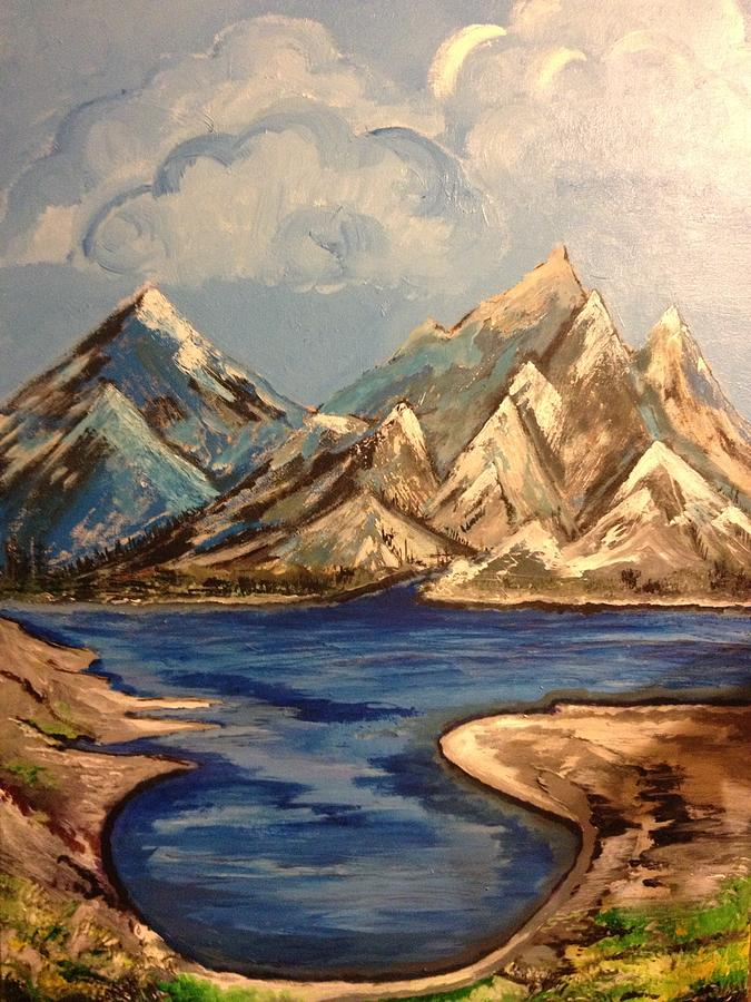 Mountains Painting - A Year by Pallavi Sharma