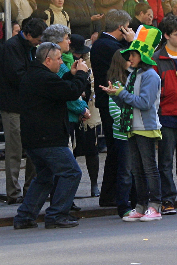 People Photograph - A Young Lady Posing During The 2009 New York St. Patrick Day Parade by James Connor