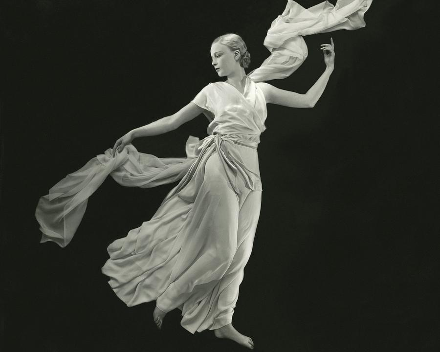 A Young Model Wearing A Vionnet Dress Photograph by George Hoyningen-Huene