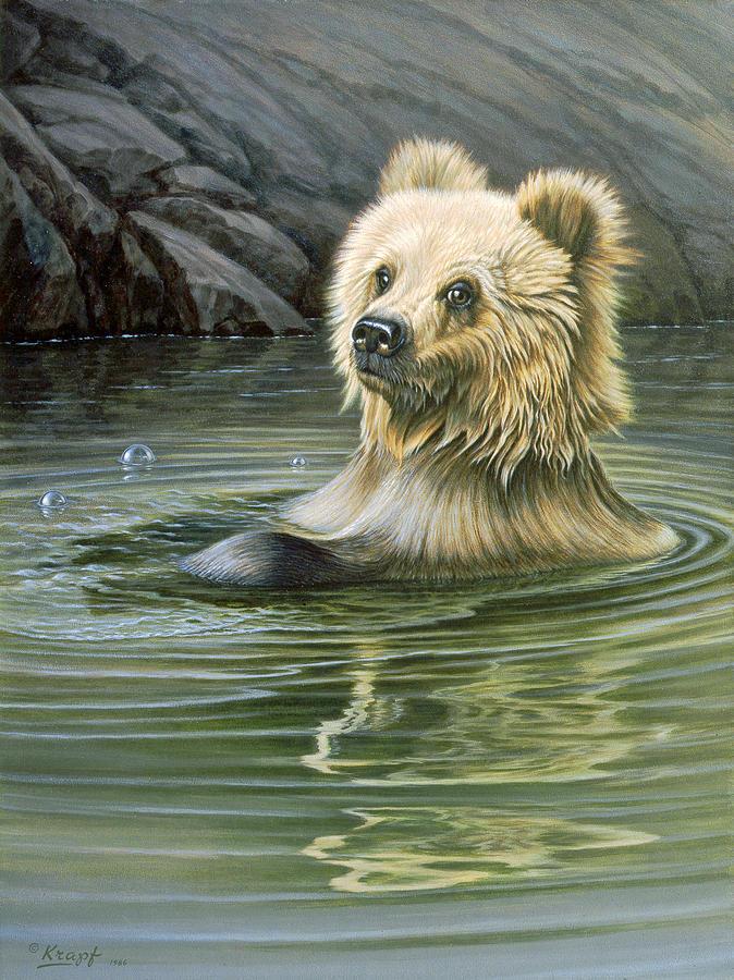 Wildlife Painting - Aaaaah by Paul Krapf