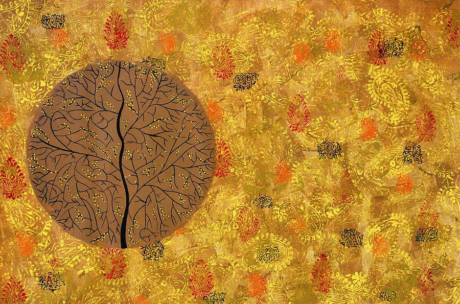Tree Painting - Aaatamvas by Sumit Mehndiratta