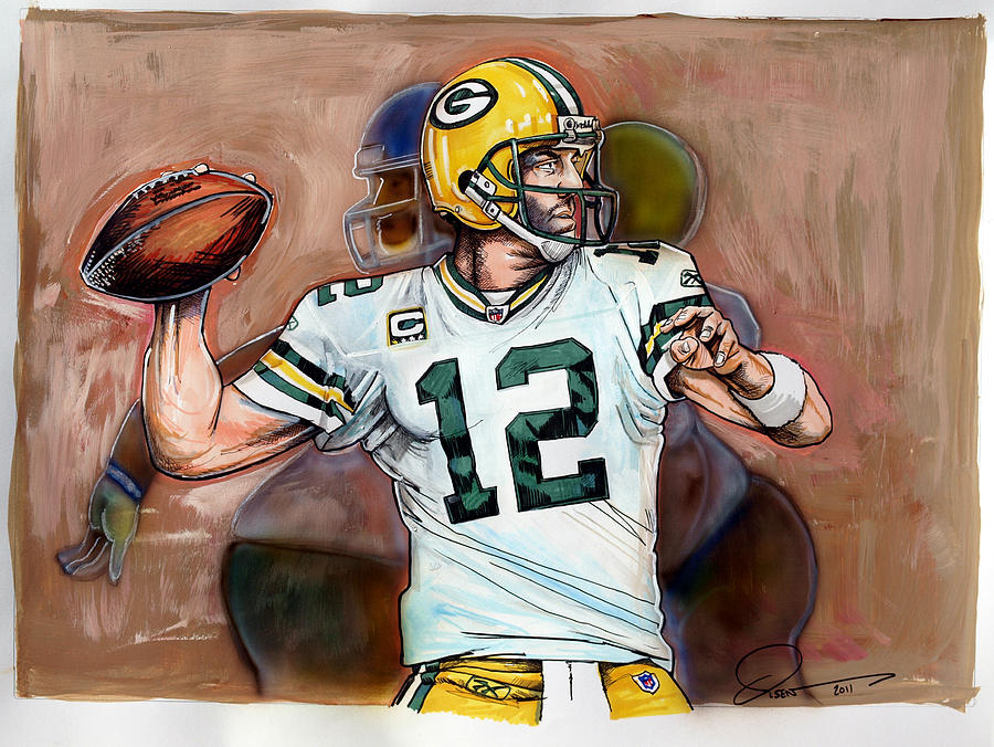 Aaron Rodgers Painting - Aaron Rodgers by Dave Olsen