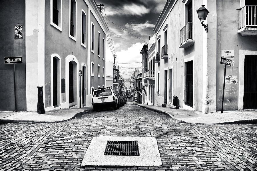Down The Street Photograph - Abajo De La Calle by John Rizzuto