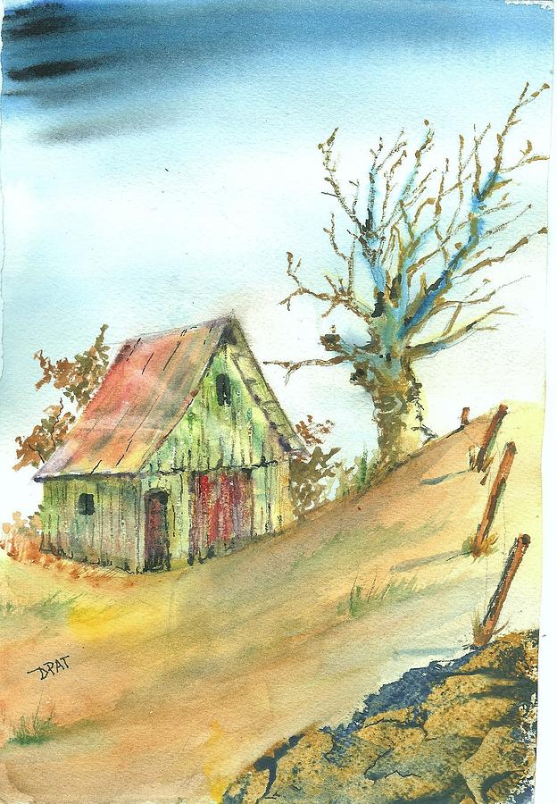 Abandoned Shed Painting By David Patrick