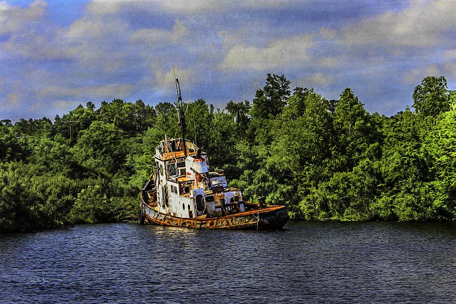 Boat Painting - Abandoned by Barry Jones