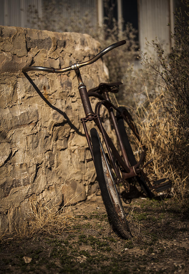 Landscapes Photograph - Abandoned Bicycle by Amber Kresge