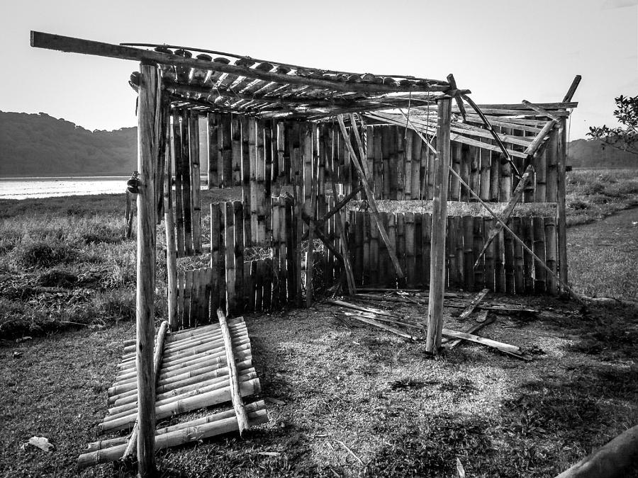 Abandoned Photograph - Abandoned Bird Observatory-bw by Fabio Giannini