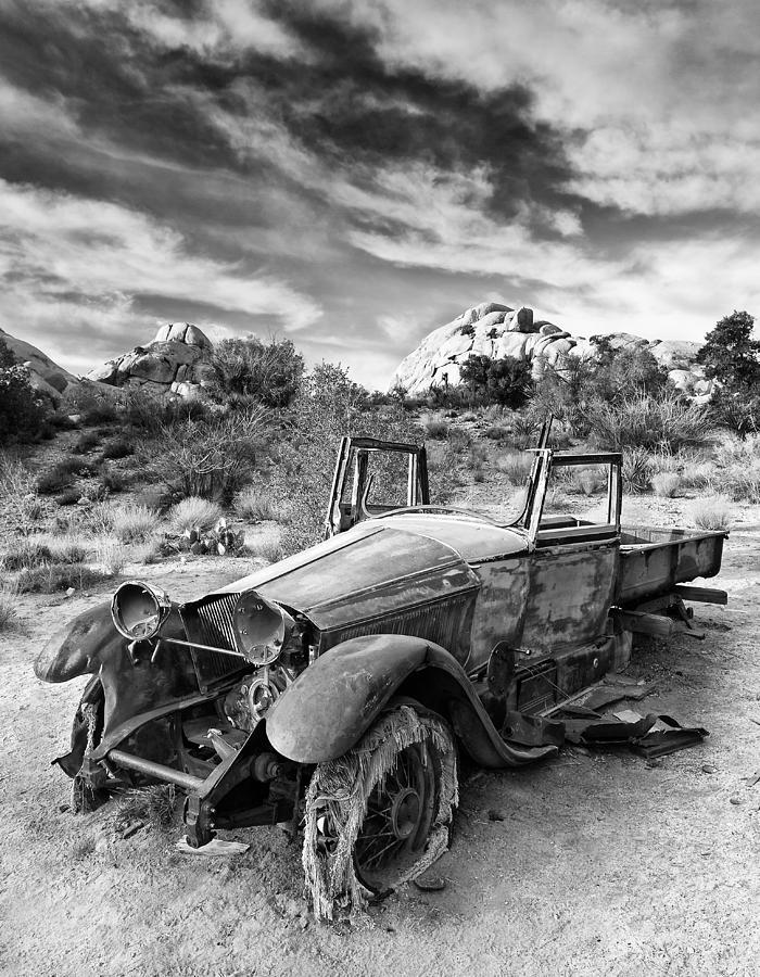 Joshua Tree Photograph - Abandoned Car by Alexis Birkill