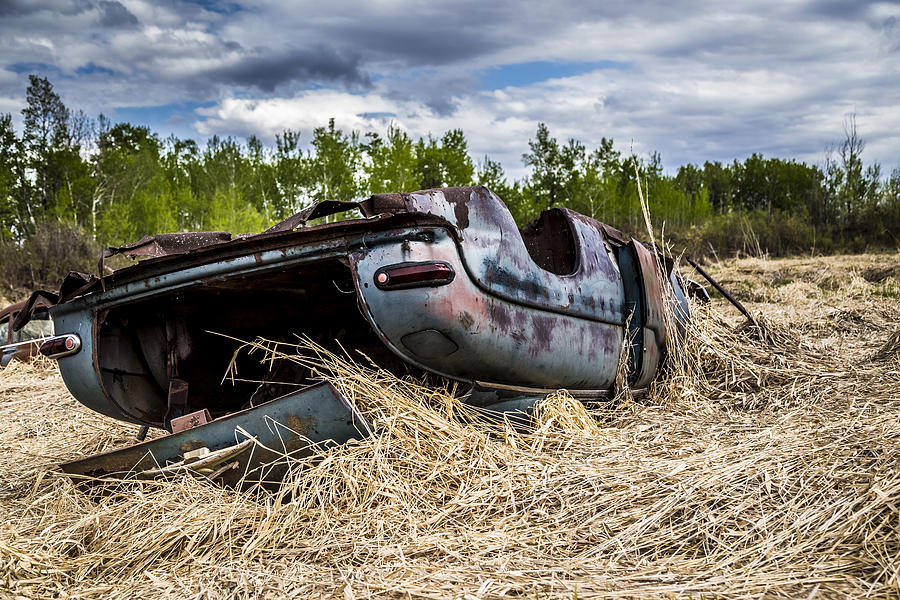 Abandon Photograph - Abandoned Car by Gerald Murray Photography