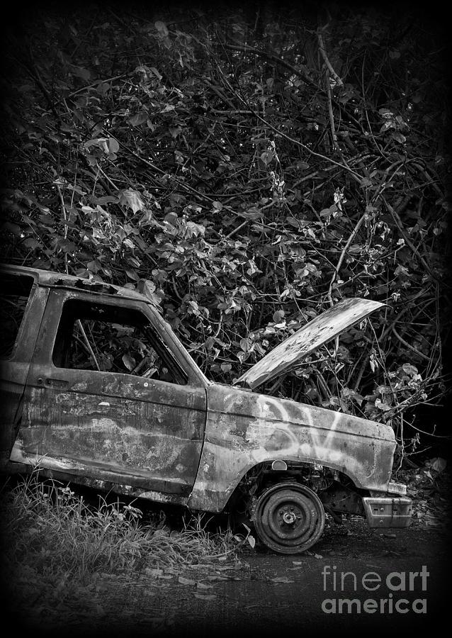 Car Photograph - Abandoned Car Road To Hana Maui by Edward Fielding