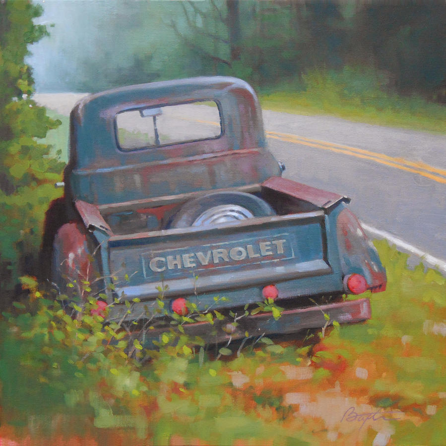Truck Painting - Abandoned Chevy by Todd Baxter