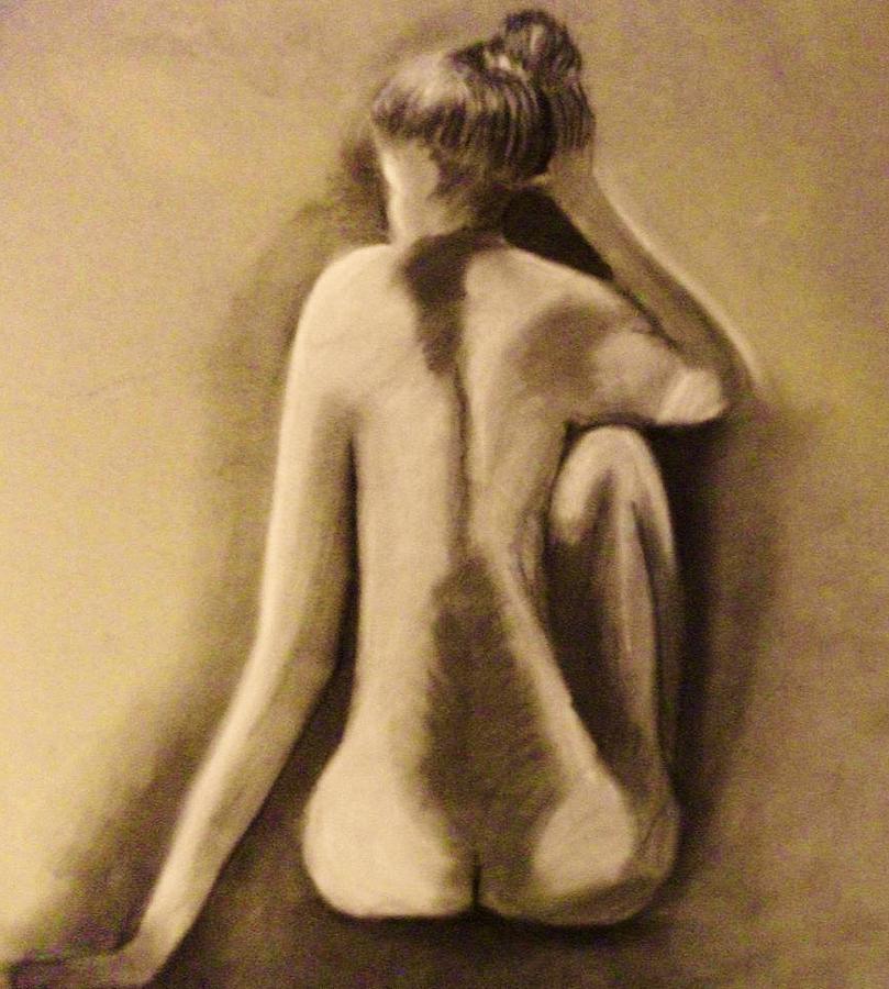 Nude Drawing - Abandoned Dreams by Crystal  Menicola