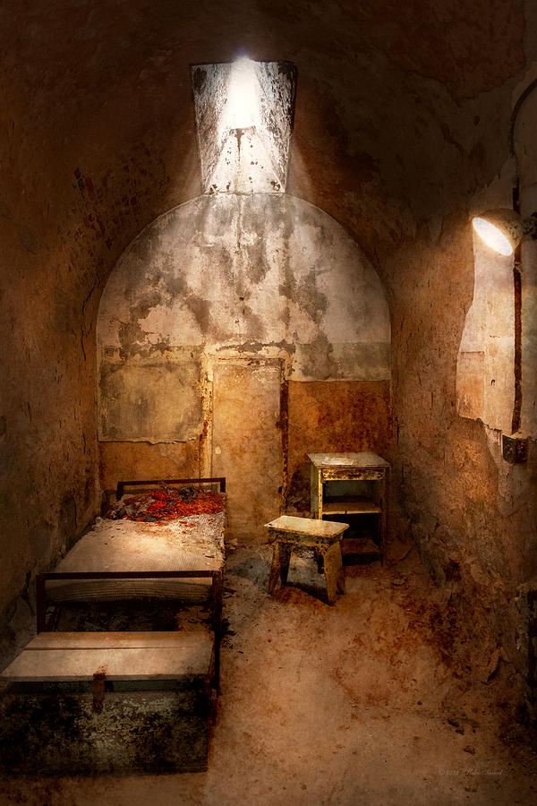 Jail Photograph - Abandoned - Eastern State Penitentiary - Life Sentence by Mike Savad