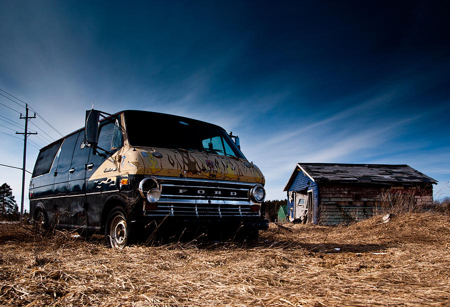 Abandoned Ford Van Photograph