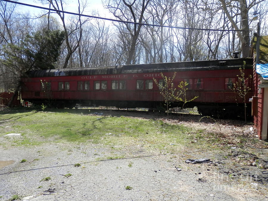 A Retired Gulf Mobile Ohio Railroad Dining Car Belvidere New Jersey by  Carol Wisniewski