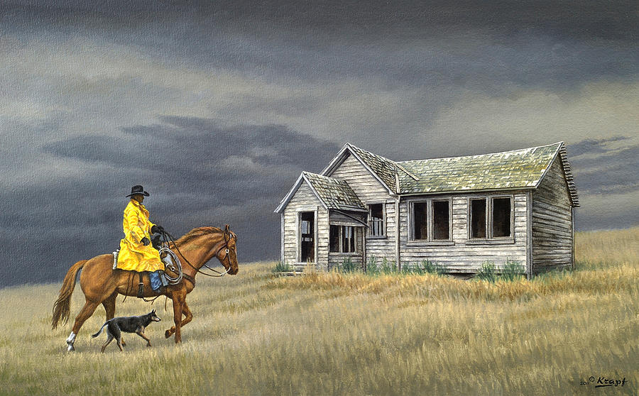 Landscape Painting - Abandoned Homestead-eastern Idaho by Paul Krapf