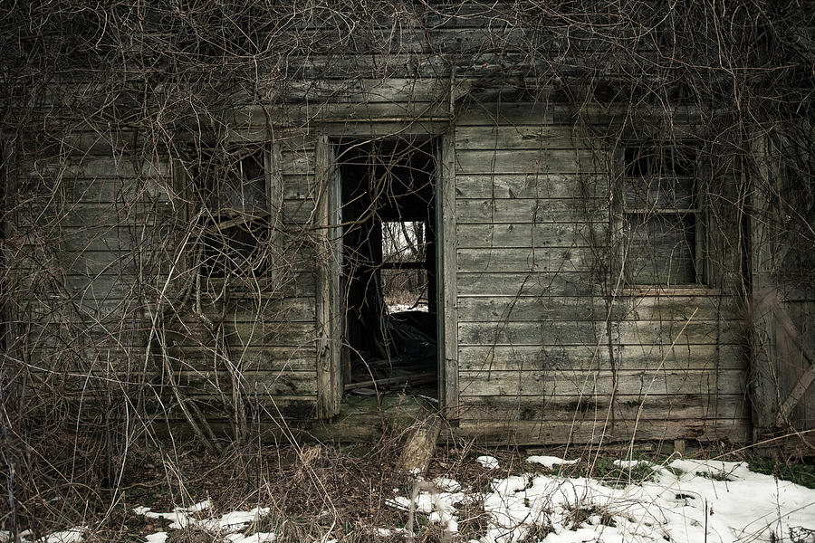 Rustic Photograph - Abandoned House - Enter House On The Hill by Gary Heller