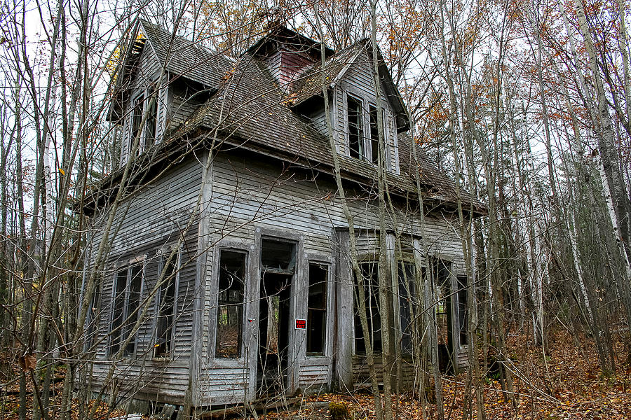 Abandoned Photograph - Abandoned House In New Hampshire by Allan Johnson